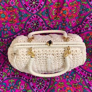 Vintage Bags - 🚫SOLD🚫Vintage White Woven Purse